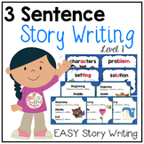 3 Sentence Story Writing {Writing Fiction}