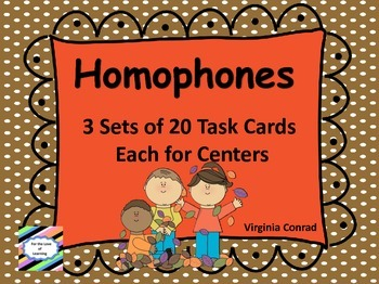 Homophone Task Cards for Centers--Fall Theme