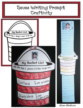 """3 Seuss -Themed Writing Prompt Craftivities For """"Oh The Places You'll Go"""" Story"""