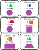 3 Shape Card Games for Solid and Plane Shapes