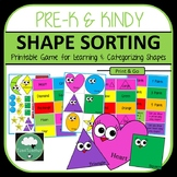 3 Shape Sorting Games using Cute and Colourful Shapes - Sort into Categories
