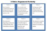 3 Sides Argument Activity