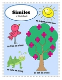 Introduction to Similes / 3 Figurative Language Worksheets