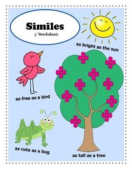 Introduction to Similes / 3 Figurative Language Worksheets