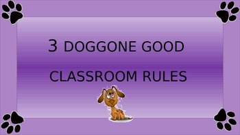 3 Simple Dog Themed Classroom Rules