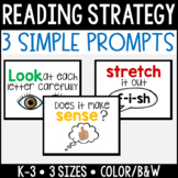 3 Simple Reading Strategy Posters