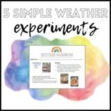 3 Simple Weather Science Experiments: Tornado, Hurricane, & Rain Cloud in a Jar