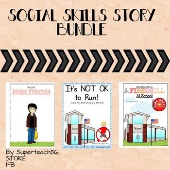 3 Social Skills Stories BUNDLE