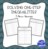 3 Solving One-Step Inequalities Row Games