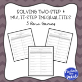 3 Solving Two-Step and Multi-Step Inequalities Row Games