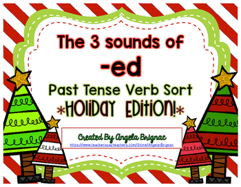 3 Sounds of -ed Holiday Sort