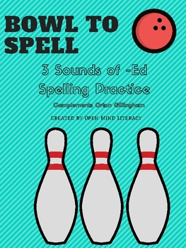3 Sounds of -ed Spelling Practice