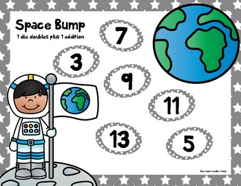 3 Space Themed Addition Bump Games
