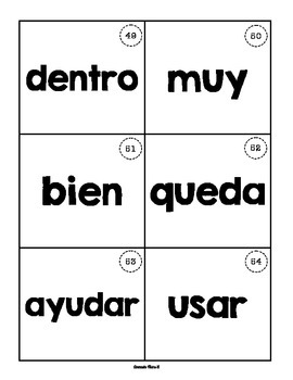 3 Spanish Sight Word Fluency Games