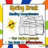 4 Spring Break Reading Comprehension Passages and Question