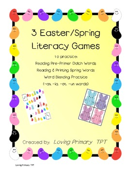 3 Spring/Easter Literacy Games - Early Primary