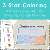 3 Star Coloring - A Beginning of the Year Writing Lesson