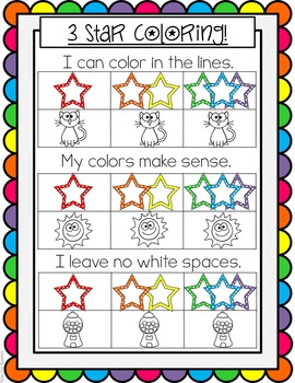 3 Star Coloring Poster