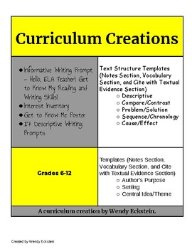 curriculum template teaching resources teachers pay teachers