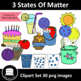 3 States Of Matter Clipart Set
