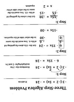 3 Step Algebra Problem
