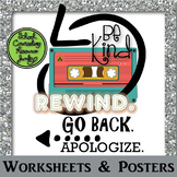 3 Step Apology Worksheets & Posters: Be Kind. Rewind. Go B