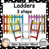 3 Step Ladder Clipart