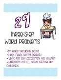 3-Step Math Word Problems/Journal Prompts