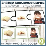 3-Step Photo Sequence Cards with BOOM Cards for Distance Learning