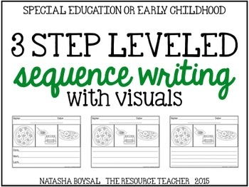 3 Step Sequence Writing (includes class visuals and leveled response sheets)
