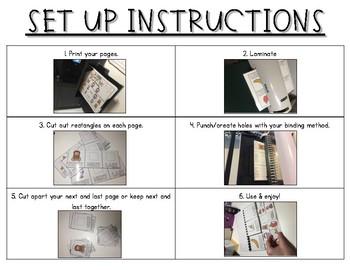 3-Step Sequencing Flip Book {Set 1}