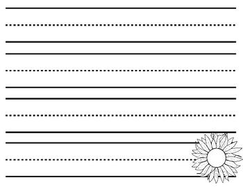 3 Step Sunflower Writing - Spanish