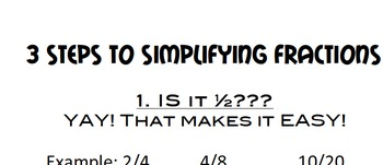 3  Steps to Simplify Fractions