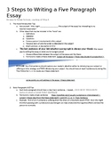 Writing the Perfect Five Paragraph Essay