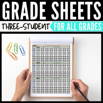 3-Student Grade Sheets - Three Student Grade Sheets