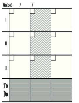 3 Subject Chevron Personal Planner Pages