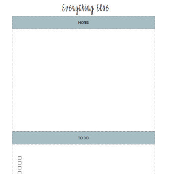 The Organized Life Planner - Customizable Planner/Binder - Planer & Notes