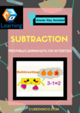 Subtraction - Interesting printable with Fun Activities, Worksheets