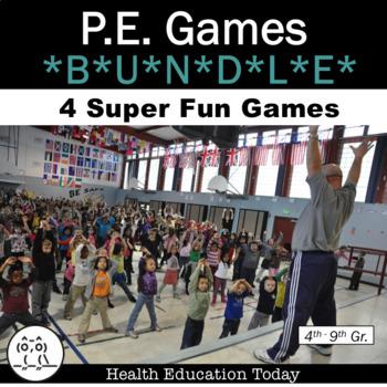 P.E. Games Bundle: 4 Super Fun Favorite P.E. Games!