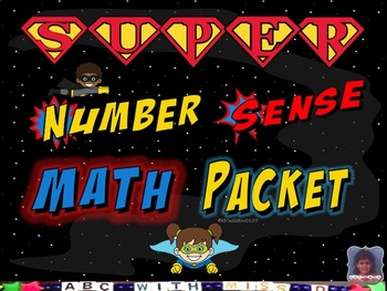 3 Superhero Math Activities-Matching Numerals, Names, Tracing, Ten Frames More
