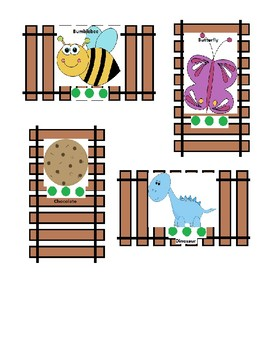 3-Syllable Multisyllabic Word Train Track Connect for Speech Therapy