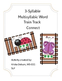 3-Syllable Multisyllabic Word Train Track Connect for Spee