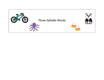 3-Syllable Word Flip Book