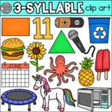 3 Syllable Words Clip Art • Speech Therapy/Phonics • SpeakEazySLP