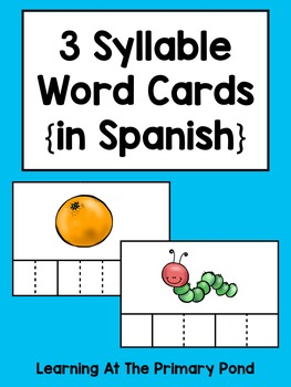 Spanish Syllables Practice with 3 Syllable Words {Palabras de 3 sílabas}