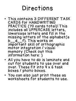 3 TASK BOXES for HANDWRITING & ALPHABET MEMORY