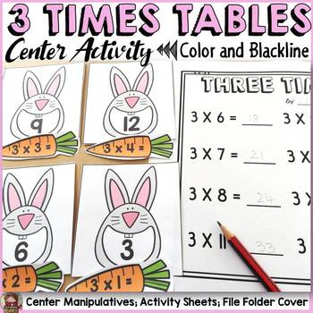 3 TIMES TABLES CENTER ACTIVITY: MULTIPLICATION