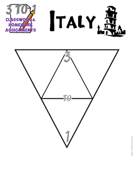 3-TO-1 Italy Classroom and Homework Assignments