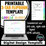 3-Tab Flip Booklet Design Template | Google Slides™ For Printing |Commercial Use