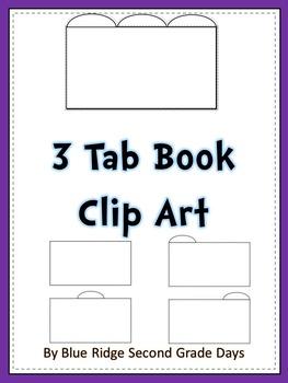 3 Tab  Book or interactive notebook Clip Art Set